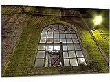 Rundbogenfenster - Wandbild Stahlwerk Maxhütte, exklusiver Druck auf Leinwand, Alu-Dibond oder Acrylglas inkl. kostenloser Wandhalterung - Moderne Wandbilder Bilder Glas Bild Kunst Fotografie Kunstdruck Deko für Wohnzimmer, Schlafzimmer und Büro