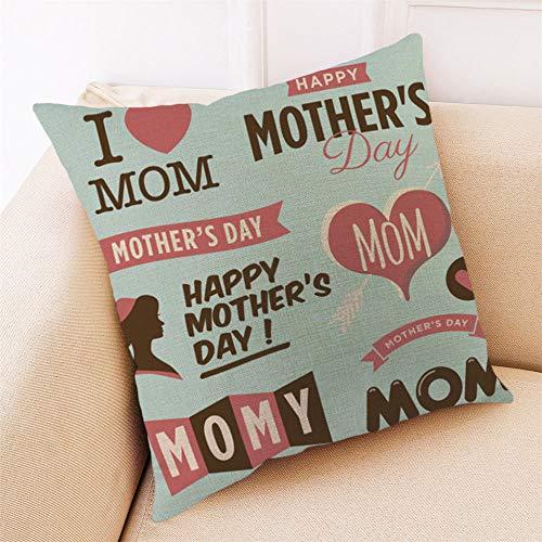 VRTUR Feliz día de la Madre, Funda de Almohada,Funda de cojín,Algodón de...