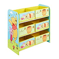 Disney Winnie the Pooh Kids Bedroom Storage Unit with 6 Bins by HelloHome