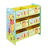 Winnie Puuh - Regal zur Spielzeugaufbewahrung mit sechs Kisten für Kinder