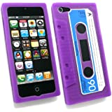 Emartbuy® Apple Iphone 5 5s Retro Cassette Silicon Skin / Schutzhülle / Case Lila