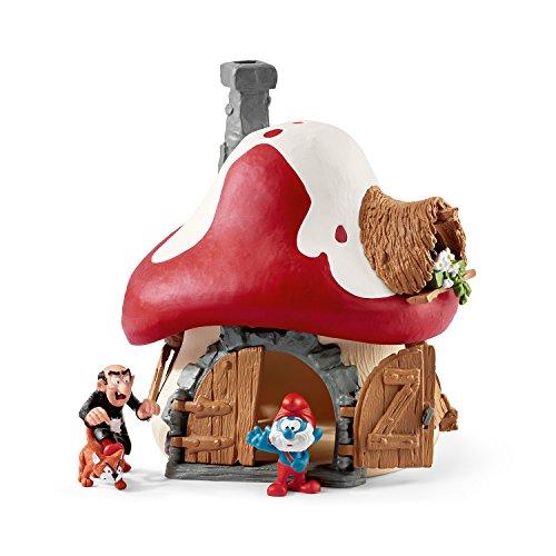 Los Pitufos - Casa con Papa Smurf, Gargamel y Azrael, Figuras (Schleich 20803)