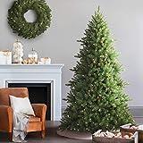 Balsam Hill Berkshire-Bergtanne Künstlicher Weihnachtsbaum, 210 cm, weiße LED-Leuchten