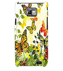 ColourCraft ButterFly Back Case Cover for SAMSUNG GALAXY S2 I9100