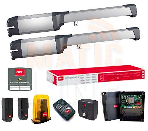 KIT BFT PHOBOS AC50 AUTOMAZIONE CANCELLO BATTENTE 230V 5MT 500KG R935305 00002