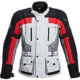 Pharao Motorradjacke Motorradschutzjacke Reise Textiljacke 1.0 grau/rot M