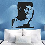 ganlanshu Bruce Lee Kung Fu Arte Marziale Decorazione Domestica Immagine Rimovibile Vinile Wall Sticker Decorazione Domestica Murale Applique Arte 85cmx105cm