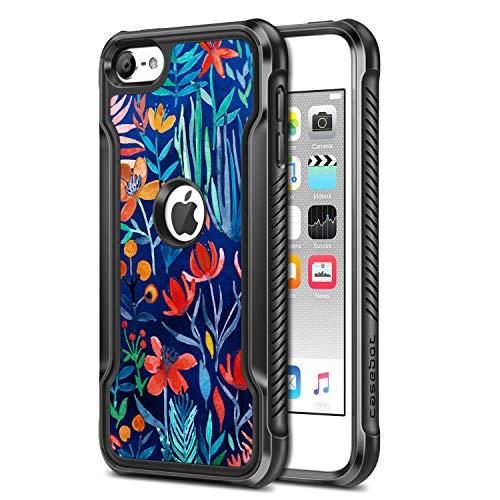 Casebot cover per ipod touch 7 2019/ ipod touch 6 / ipod touch 5 - soft custodia case in super leggero morbido tpu per ipod touch 7a / 6a /5a generazione, jungle night