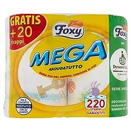 Foxy Mega, Asciugatutto, 220 Strappi – 2 Pezzi