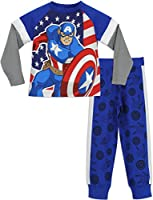 Marvel Boys Captain America Pyjamas Ages 3 to 10 Years