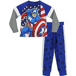 Marvel - Pijama para Niños - Avengers Captain America - 4 - 5 Años