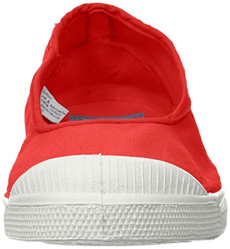 Bensimon Damen Tennis Ballerine Sneaker Rot (Rouge)