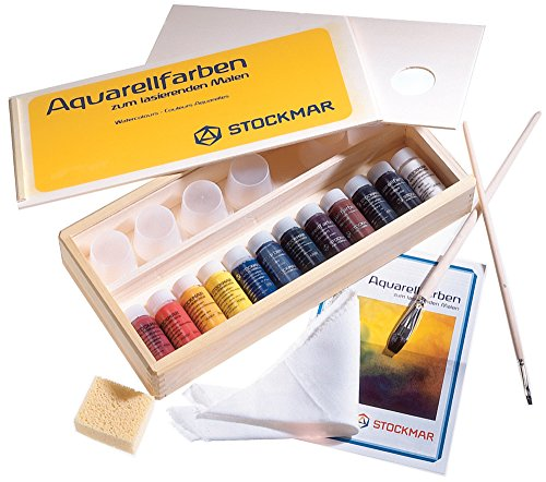 STOCKMAR Aquarellfarben 12 Farben im Holzkasten