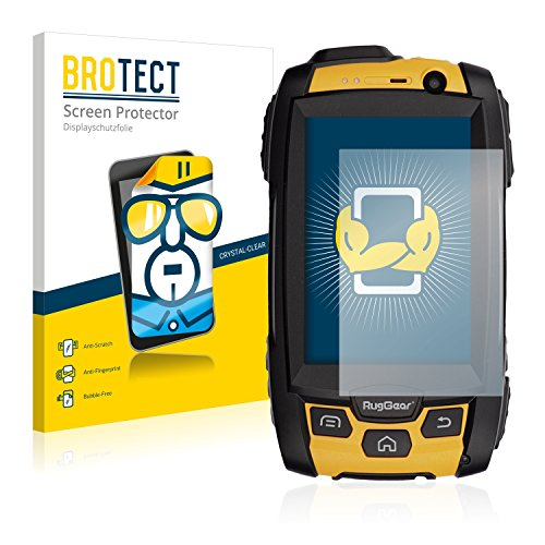 BROTECT Schutzfolie kompatibel mit RugGear RG500 [2er Pack] - klarer Bildschirmschutz