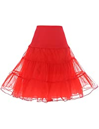 Dresstells® Mujeres Cancan 50s Retro Rockabilly Enaguas Miriñaques Faldas