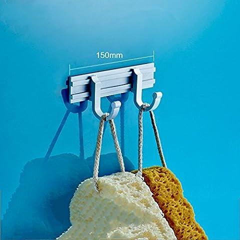 GUO - Mantel Haken Rack Wandhalterung Edelstahl Kleiderbügel Schwerer Kleiderhuthalter (Doppel 2 Haken) (Haken können verschoben (Edelstahl-wandhalterung Sink)
