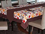Lushomes Leaf Printed 6 Seater Small Tab...