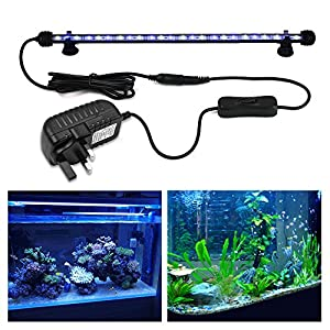 NEWNEN Fish Tank Light Waterproof Aquarium Lights Remote Control 5050 LED Color Changing,Air Bubble lights with 24key…