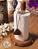 Wood Art Store Wooden Brown Kitchen Tissue Roll Holder And Tissue Paper Stand