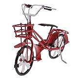MagiDeal Metall Fahrrad Modell, Miniaturfahrrad Bike Model Classical-Design - Rot