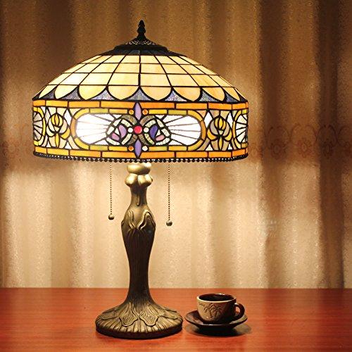 Lampada da tavolo europeo Tiffany 16 pollici barocco Vintage Pastorale lusso Desk Lamp Lampada da comodino