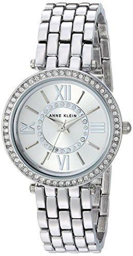 Anne Klein Women's AK/2967SVSV Swarovski Crystal Accented Silver-Tone Bracelet Watch
