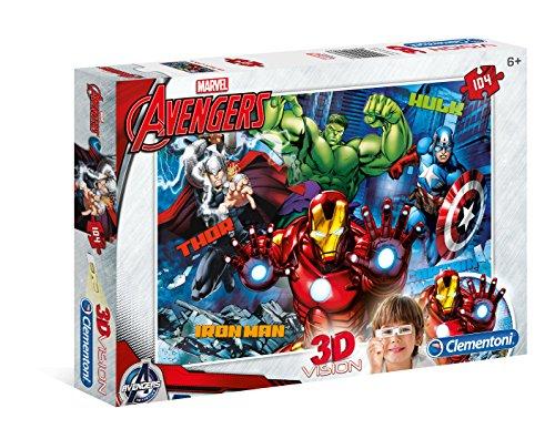 Clementoni- Avengers Puzzle 3D Vision, 104 Pezzi, 20606