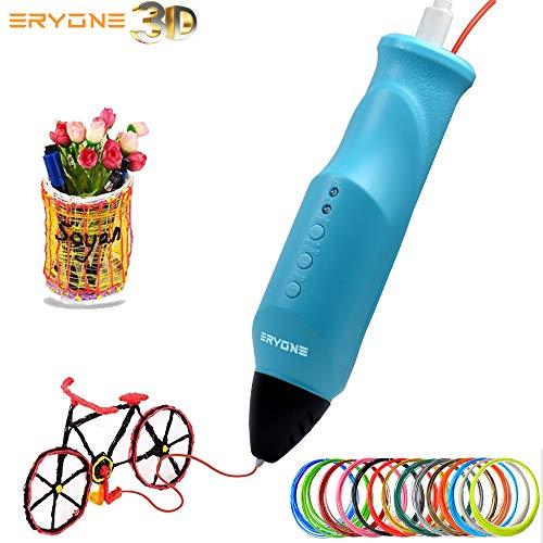 Pluma 3D, Impresora 3D, Pluma de impresión 3D Eryone Compatible con PLA/PCL, Impresión a baja temperatura, Carga USB, Carga de filamento automáticamente, Impresora 3D para educación STEM.