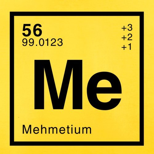 Mehmet Periodensystem - Herren T-Shirt - 13 Farben Gelb