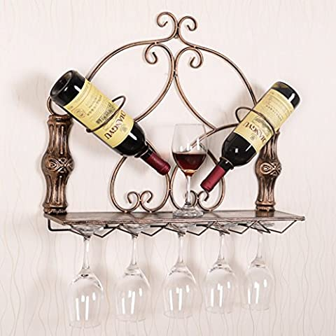 INTASJU Wine Rack / Wine Rack / étagère en métal ( Couleur : Brass , style : 1# )