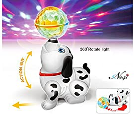 Negi Battery Operated Dancing Dog with 4D Lights and Sound.