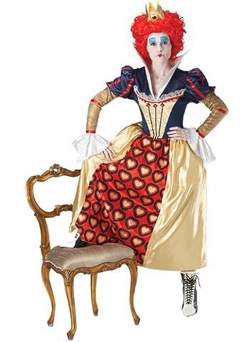 Alice im Wunderland die rote Königin der Herzen Kostüm Small (UK 8-10)