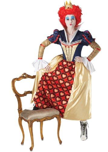 Erwachsene Damen Wonderland das rot Königin der Herzen Kostüm Medium (UK (Alice Erwachsene Perücke Wonderland In Für)