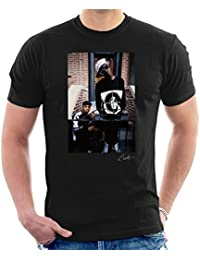 Lawrence Watson Official Photography - Public Enemy Flavor Flav Chuck D On Steps Men's T-Shirt
