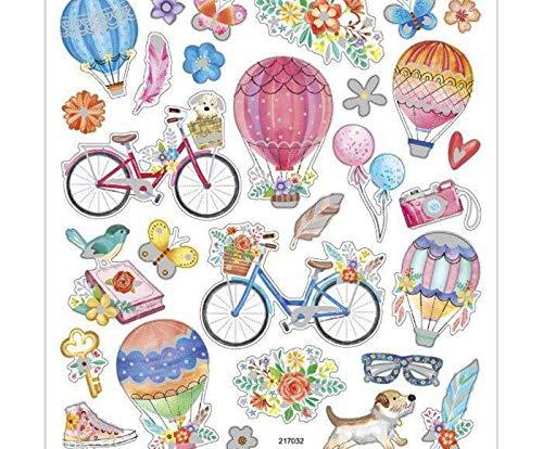 15x17cm Aufkleber - Fliegen-Ballon, clipart, Karte Verzierung, Kunst, Sammelalbum, Zubehör, Dekoration, Einfache, Scrapbooking Papier -