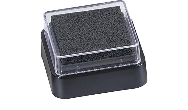 3 x 3 cm nero formato mini imbevuta Spugnetta di inchiostro per timbri Baier /& Schneider