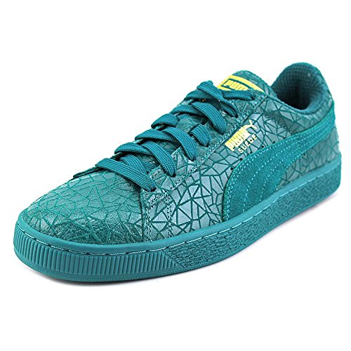 puma-suede-crackle-uomo-us-115-verde-scarpe-ginnastica