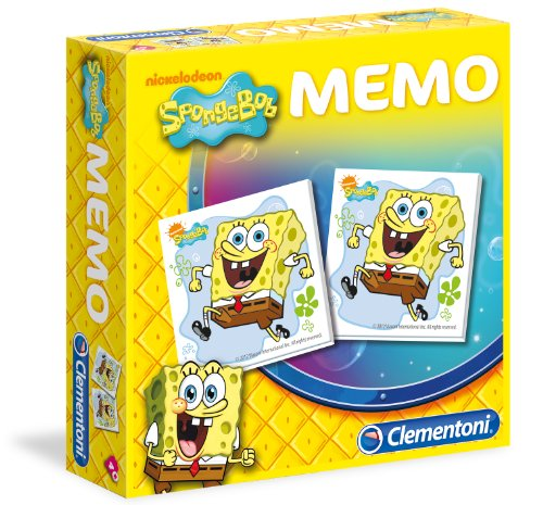 Clementoni-12998-Memory Spiel, Sponge Bob [Import Italien]