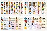 Kigima 114 Aufkleber Sticker Namens-Etiketten rechteckig Jana Verschiedene Größen und Tiermotive