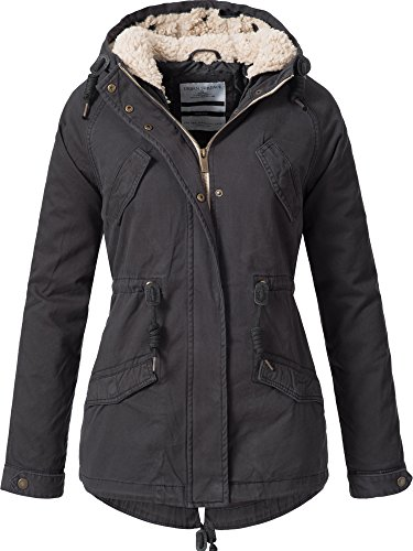 URBAN SURFACE Damen D7210A44363A Winterjacke mit Kapuze Grau XL
