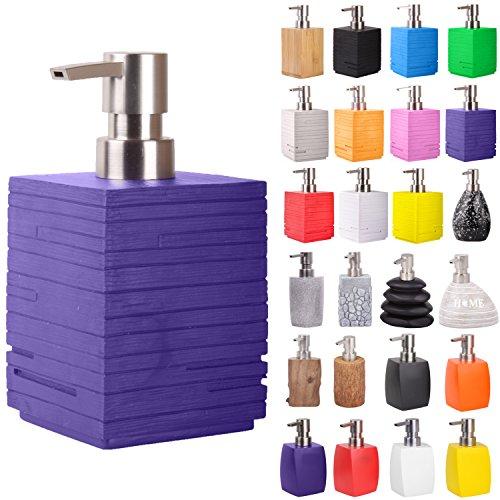 Seifenspender | viele schöne Seifenspender zur Auswahl | modernes, stylisches Design | Blickfang für jedes Badezimmer (Calero Purple)