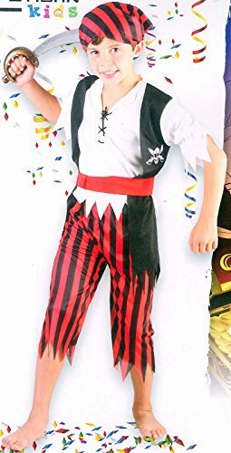Coingallery Urban Kids Kinder Fancy Dress up Kostüm Pirate Boy 120 cm – 130 cm (7–9 Jahre)