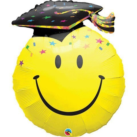 nballon Smile Face Party Grad, 91,4 cm, mehrfarbig ()