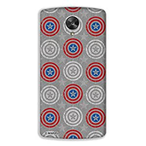 Marvel Civil War PBMARLENS82006 Captain Shield Back Cover for Lenovo S820 (Multicolor)