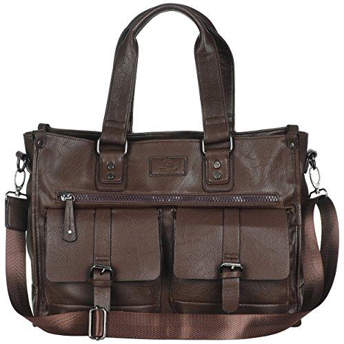 Binlion Taikes Unisex PU leather Backpack Shoulder Backpack Messenger Cross Body Bag and Unisex Canvas Backpack Black32