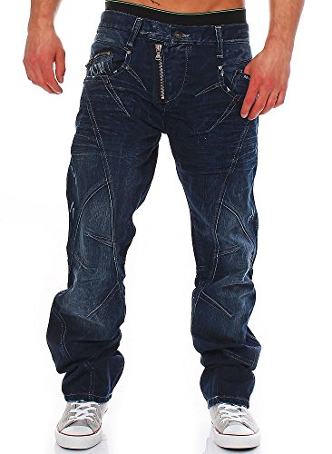 Cipo & Baxx Jeans Hose dunkelblau C-768 32/36, Dunkelblau