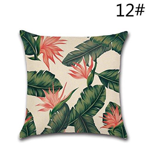 Yy club fashion simple green leaf cuscini di office home decor accessori