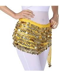 b830601933f0 Yixiudz Ceinture Foulard Sequins Belly Danse Ventre Orientale Costume de Professionnel  Danse