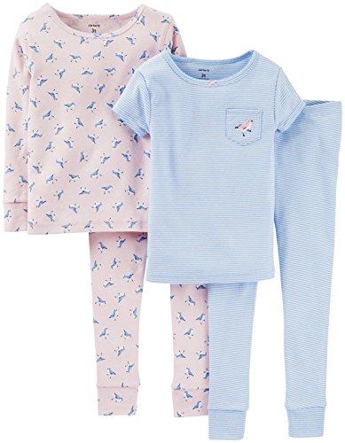 Carter's 4-teiliges MIX 'N MATCH Baby / Kleinkind Mädchen Baumwoll-Pyjama Set(9 Monate) (Kinder Carters Baumwolle)