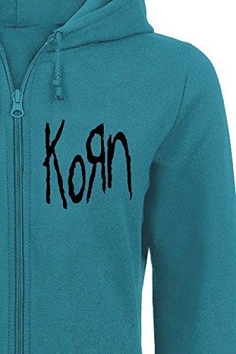 Korn Logo Felpa jogging donna turchese Turchese